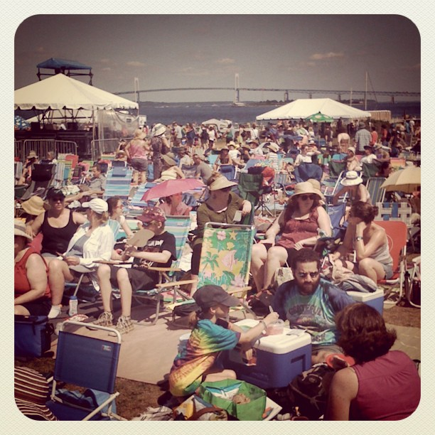 Josh Jackson Tweeting from Newport Folk Fest