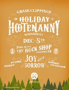 grassclippings holiday hootenanny – 12/5/12