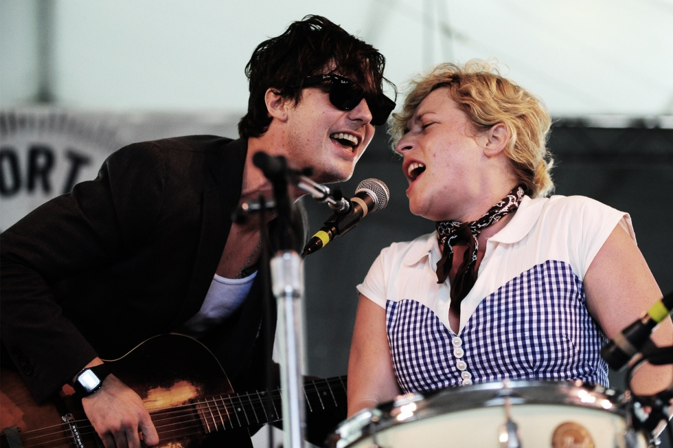 Shovels and Rope making sweet, sweaty music on the Quad Stage at Newport Folk Festival 2013.