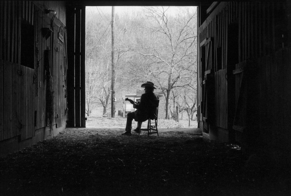 Bill Monroe, Last Winter, 1995 in Goodlettsville, TN - Photo by Marty Stuart