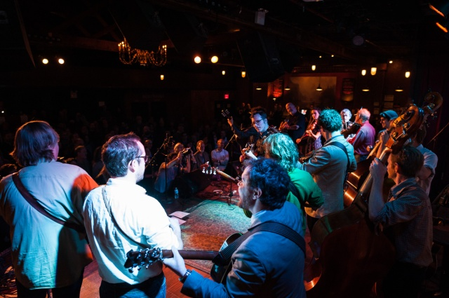 The All Star Jam at the 3rd Annual Brooklyn Bluegrass Bash - Photo by Jacob Blickenstaff